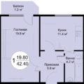 1 комнатные
