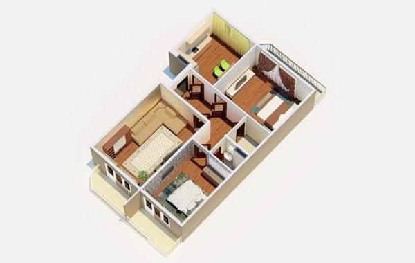 3 комнатная квартира в 7 этажном доме