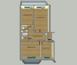 3 комнатные