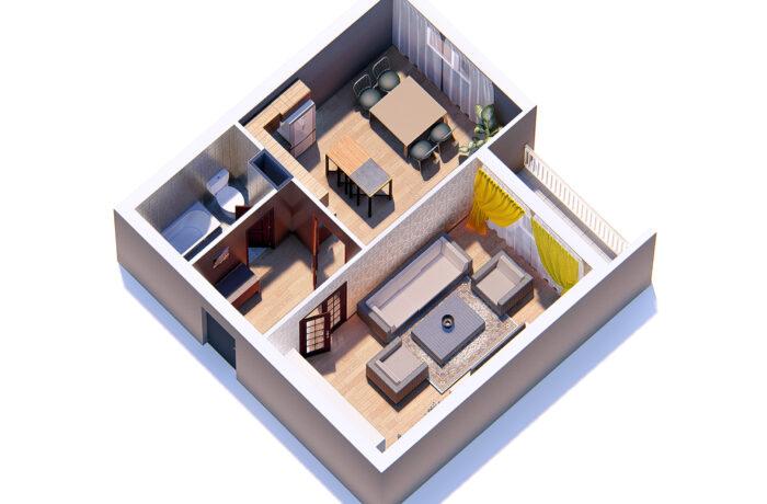 1 комнатная квартира в 9 этажном доме